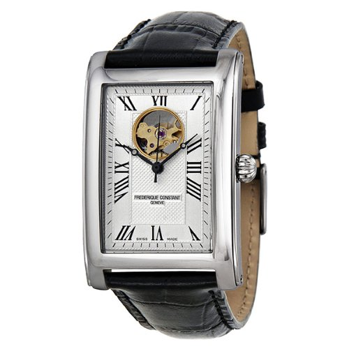 Frederique Constant Men's FC-310MC4C26 Carree Silver Open Dial Watch