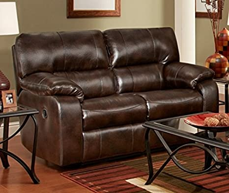 Chelsea Home Furniture Rita Reclining Loveseat, Canyon Chocolate