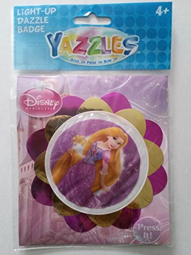 Yazzles Light-Up Dazzle Badge, Disney Princess Rapunzel