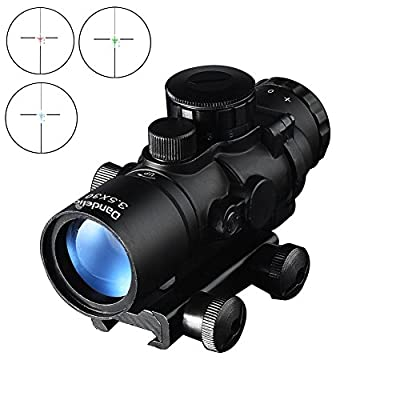 Dandelion 3.5X 30 Scope Instruction Rifle Scope Suitable for Hunting Optical , Red, Green and Blue 3 brightness levels Dot ½MOA 200 yard by Dandelion