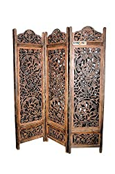 Crafts A to Z Wooden Handcrafted Partition/Room Divider/ Separator For living Room/Office