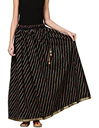 Saadgi Rajasthani Hand Block Printed Handcrafted Ethnic Lehnga Skirt For Women/Girls - B06XGH7X54