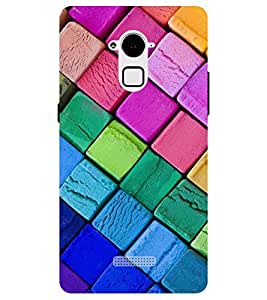 Chiraiyaa Designer Printed Premium Back Cover Case for Coolpad Note 3 (blocks colorful) (Multicolor)