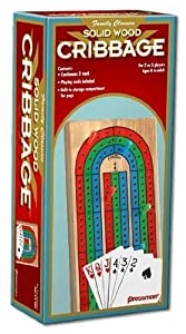 Wood Cribbage With Cards - Board Games
