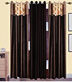 Gaurav Curtains 2 Piece Polyester Door Curtain - 7 ft, Multicolor