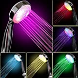 7 Color LED Low Flow 2.0 GPM Color Changing Best Bathroom Relexing Magic Handheld Efficient Efficiency Removable Detachable Light Colorful Coloring Perfect Bath Water Conserving Eco Fun Hand Adjustable Neon Showerhead Shower Head HeadsBA1004C