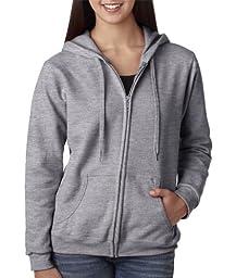 Gildan Ladies Heavy Blend Full-Zip Hood Pullover, SPORT GREY, XXX-Large
