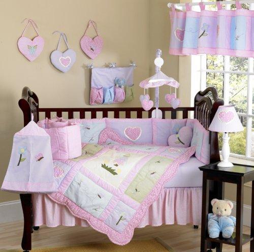 JoJo Designs 9-Piece Baby Designer Crib Bedding Set - Sweet Kayla Pink and Purple