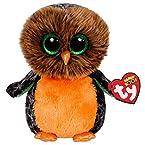 Midnight Orange Owl Beanie Boo