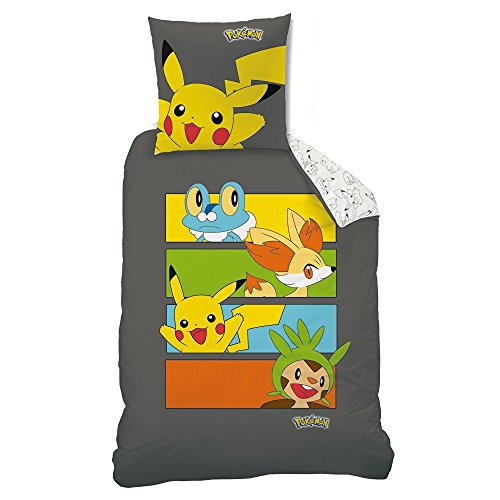2 tlg set bettw sche pok mon pikachu 135 x 200 cm. Black Bedroom Furniture Sets. Home Design Ideas
