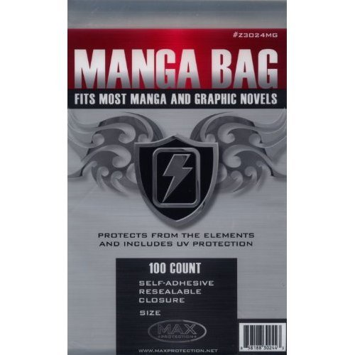 100 Self-Adhesive Resealable Manga Bags