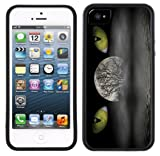 Cat Eyes Moon Wicca Handmade iPhone 5 Black Bumper Plastic Case
