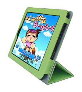iShoppingdeals - for Insignia Flex 8-INCH Tablet (NS-14T002) PU Leather Folio Cover Case, Green