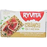Ryvita Crunch, Wholegrain Rye Crispbread, Rye & Oat Bran, 8.8-Ounce Boxes (Pack of 10)