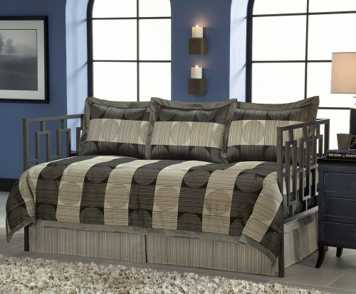 Fashion Bed Group 80JQ400SKY Paramount Skyline 5-Piece Comforter and Pillow Sham Daybed Ensemble, Twin