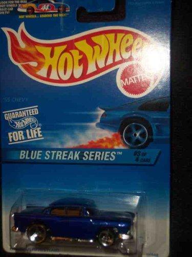 Hot Wheels 1997 Blue Streak Series #2 '55 Chevy #575 1:64 Scale - 1