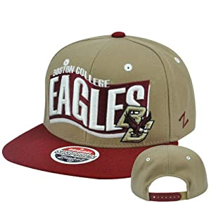 Buy NCAA Boston College Eagles BC Rally Zephyr Adjustable Snapback Flat Bill Cap Hat by Zephyr