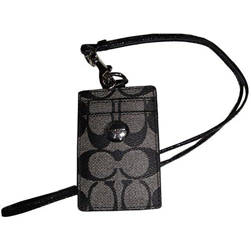 [コーチ] COACH 小物(カードケース) F68661 ブラック×ホワイト ペイトン シグネチャー ランヤード IDケース レディース [アウトレット品] [ブランド] [並行輸入品]