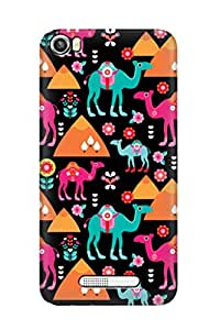 ZAPCASE PRINTED BACK COVER FOR LAVA IRIS X8 - Multicolor