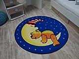 Kinderteppich Bärchen im Mond 130 cm rund