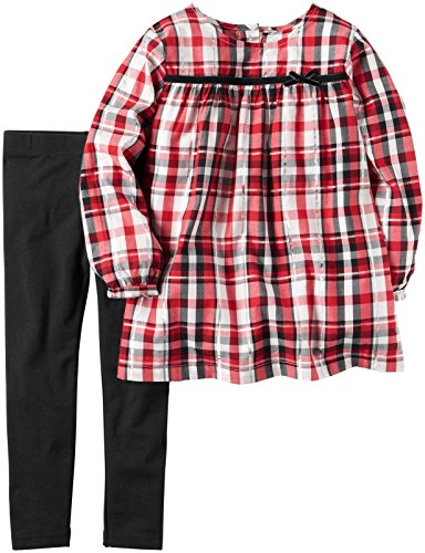 Carter's Baby Girls 2 Pc Playwear Sets 239g247, Plaid, 9M