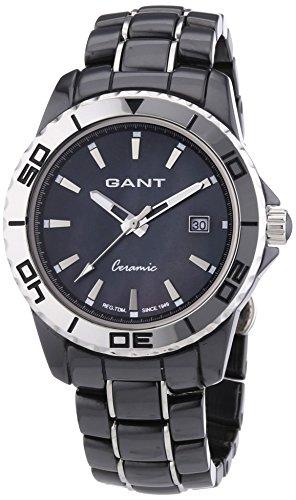 GANT W70371 - Reloj analógico de cuarzo para mujer con correa de cerámica, color negro