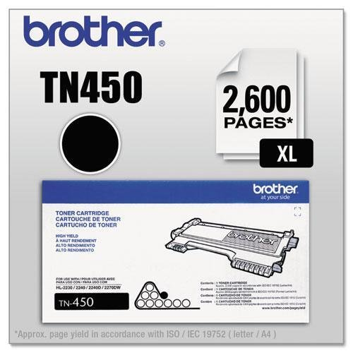 TN450 (TN-450) High-Yield Toner, 2,600 Page-Yield, Black (Brother Printer Ink Tn 450 compare prices)