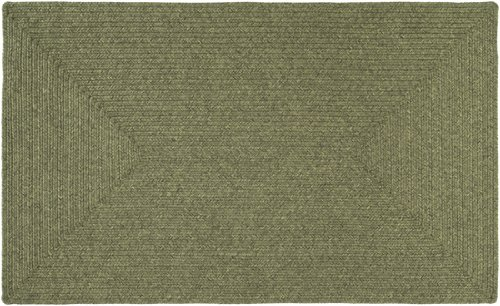 5' x 8' Intertwisted Plait Calliste and Forest Green Braided Outdoor Area Throw Rug