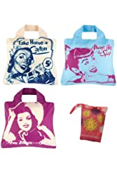 Envirosax Set of 3 Eco-Friendly Pepsi Heritage Reusable Shopping Bags