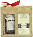 The Women's Institute Duo Jute Gift Bag with Strawberry Jam, Shortbread Biscuits