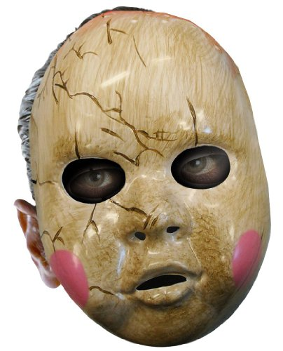 Baby Doll Adult Mask, One Size, White front-1032518