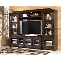 Contemporary Sable Stained Martini Suite Wall Entertainment Center
