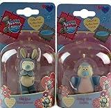 2 x Me To You Tatty Teddy Blue Nose Friends Figurines Mo Kangaroo / Ruby Robin