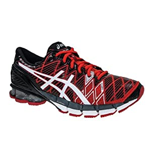 Asics Kinsei 5 - Homme - Gel rouge/noir (Taille cadre: 43,5) Chaussures running femme