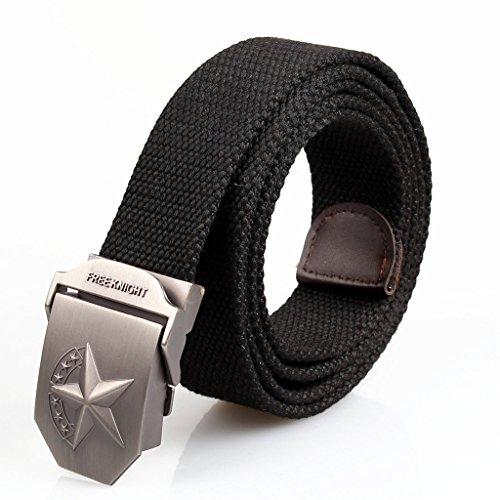 All'aperto in stile militare ALAIX uomini della tela del Web tattico cintura regolabile Unica
