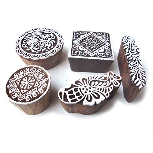 tallado-a-mano-redondo-y-floral-patron-madera-sellos-bloques-set-de-5