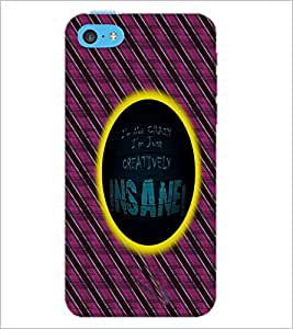 PrintDhaba Quote D-5008 Back Case Cover for APPLE IPHONE 5C (Multi-Coloured)