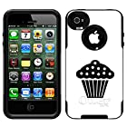 Skin Decal for Otterbox Commuter iPhone 4 Case - Silhouette Cup Cake