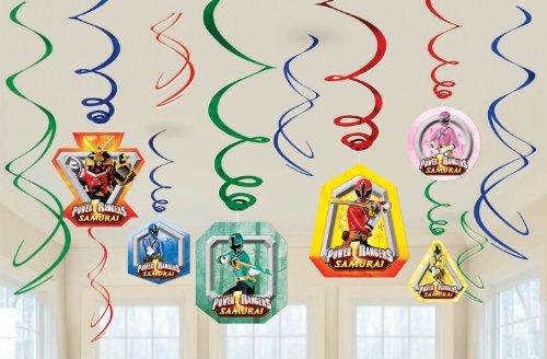 Imagen de Power Rangers Samurai remolino Decoraciones 6 Party Supply Remolinos