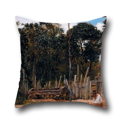 The Oil Painting Almeida Júnior - Tightening The Saddle Throw Pillow Case Of ,20 X 20 Inch / 50 By 50 Cm Decoration,gift For Home Theater,lounge,saloon,lounge,dinning Room (two Sides)