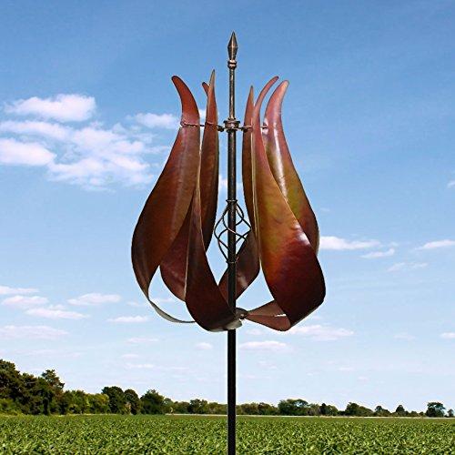 Kinetic Wind Sculpture Tulip Windmill