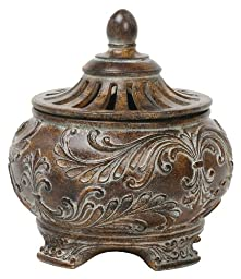 Sterling 87-1354 Composite Fortress Lidded Decorative Bowl, Brown