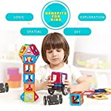 DBPOWER 96 PCS Magnetic Building Blocks Magnetic Toys, Educational Construction Stacking Sets