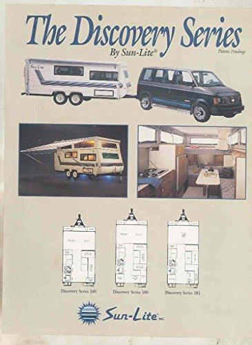 1991 SunLite Travel Trailer Sales Sheet Brochure
