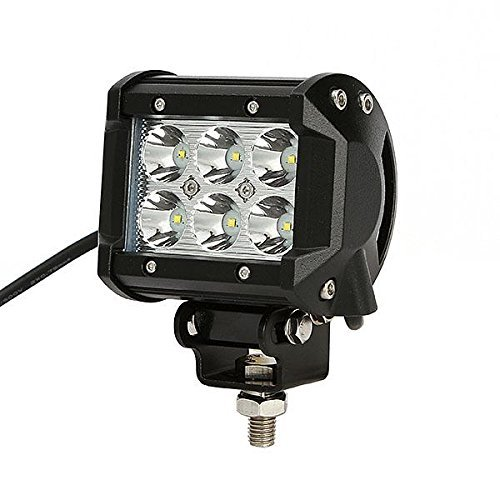 18W Cree Led Work Light Bar Spot Beam 30 Degree 12V 24V For Suv Atv Utv Pickup Pick-Up Van Wagon Van Camper