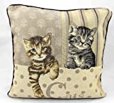 "Cats Vintage Tapestry Cushion Covers 18"" x 18"""