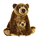 National Geographic Stuffed Animals Plush Toy (2 Piece), Mother with Baby Grizzly NSG