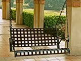 CONTEMPO IRON PATIO or PORCH SWING in ANTIQUE BLACK FINISH - PATIO FURNITURE
