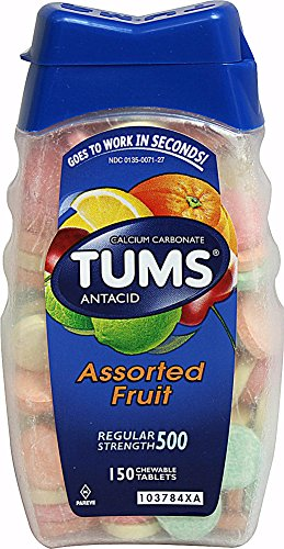 Tums Regular Strength Antacid Calcium Supplement Assorted -- 150 Chewable Tablets