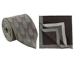 Chokore printed silk tie and pocket square set